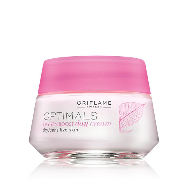 Crema de Día Oxygen Boost para Piel Seca y Sensible Optimals #oriflame