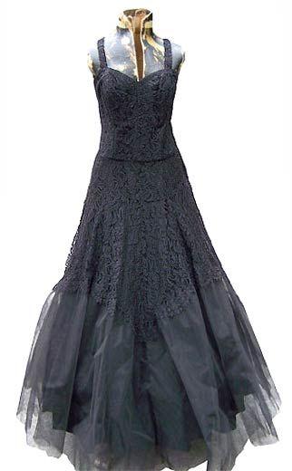 Vintage 40s Norman Originals evening gown via deadlyvintage.com