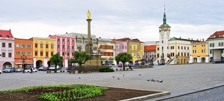 Town square in Kromeriz - Czech Republic