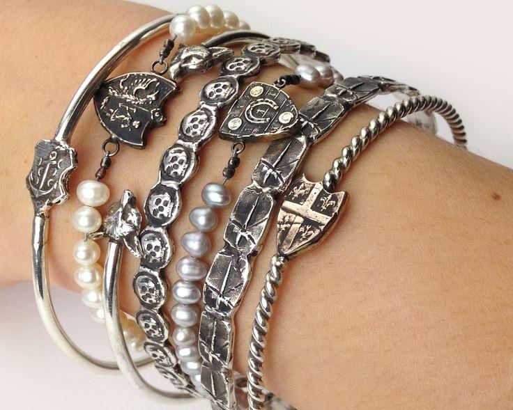 Stack it up!  Pyrrha talisman bracelets and bangles http://pyrrha.com/bracelets