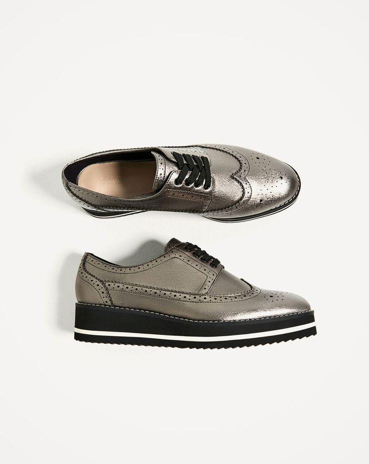 FLATFORM BLUCHERS-ZARA. Zara United KingdomZara United StatesShoes WomenWoman  ShoesShoe SaleFashion ShoesFlat ShoesGoogleChristmas 2016