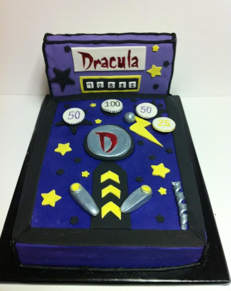 birthday cake games dracula pinball groom s cake buttercream icing with 1753