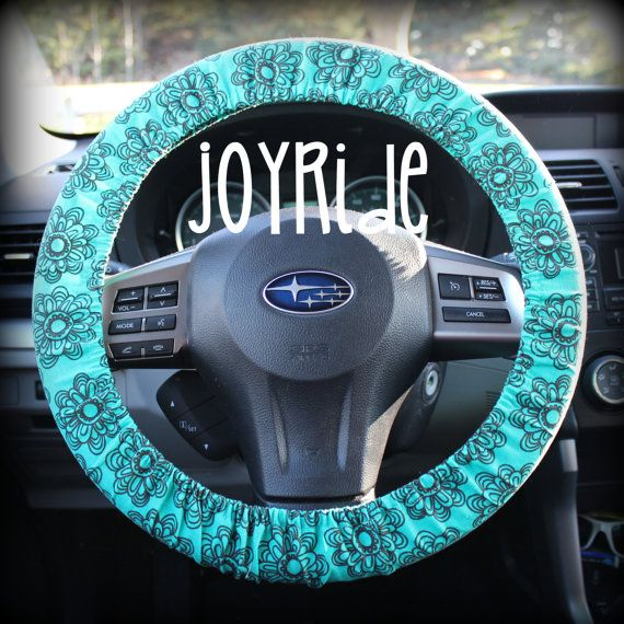 Steering Wheel Cover Aruba Blue Teal Daisy Sketch with Matching Keychain  Option Present for Girls Car. The 25  best Girl car accessories ideas on Pinterest   Girly car