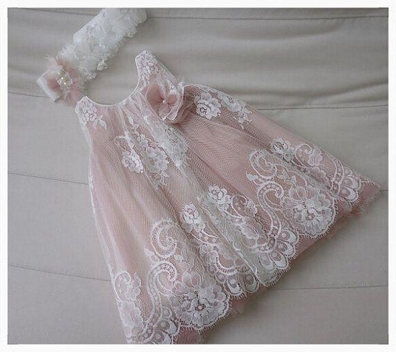 Christening Dress  Baby Girl Baptism  Birthday Dress by PJbydesign