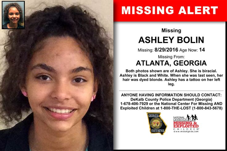 Ashley bolin age now 14 missing 08 29 2016 missing for Dekalb tattoo company