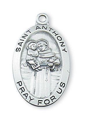 Sterling Silver St. Anthony Pendant - Patron Saint - St. Anthony