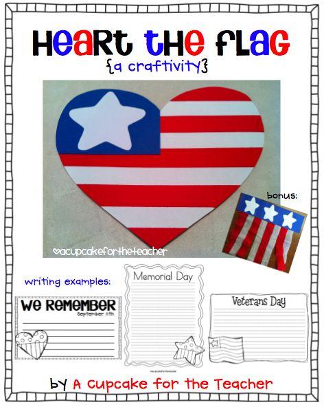 Heart the Flag craftivity