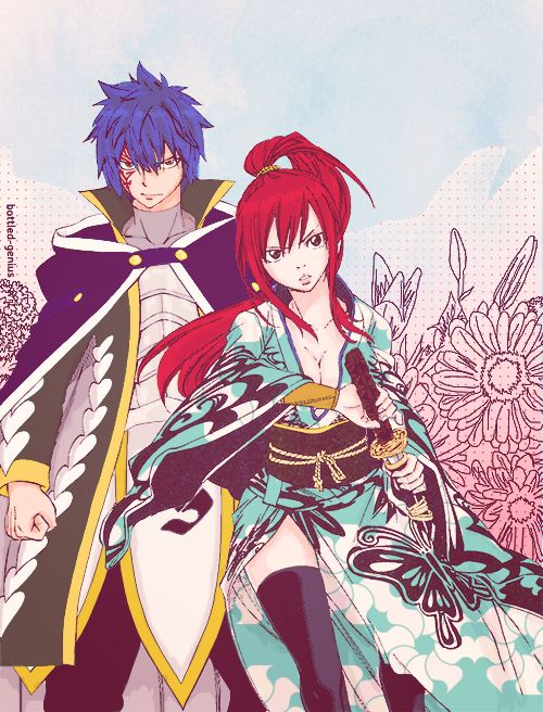 Jellal and Erza.