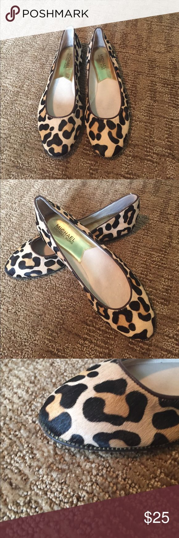 Shoes Animal hair animal print ballet flats. Small brass stud trim. Excellent condition. No trades. Michael Kors Shoes Flats & Loafers