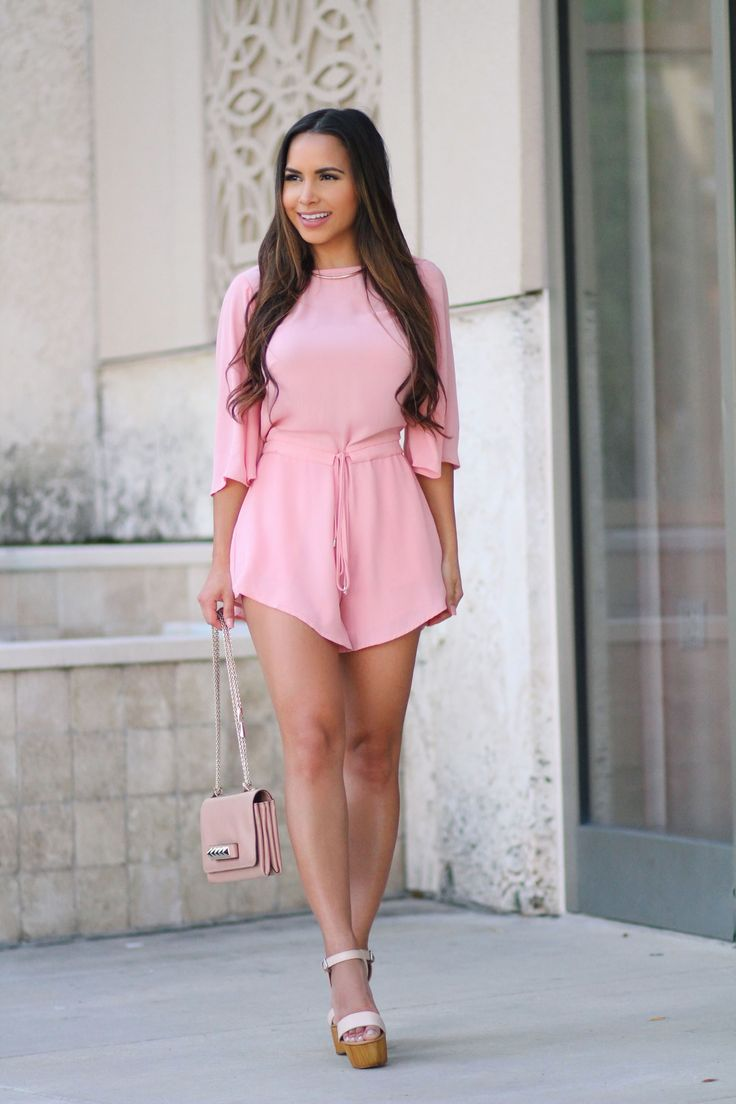lisa morales hot miami styles pink romper prom dresses sexy
