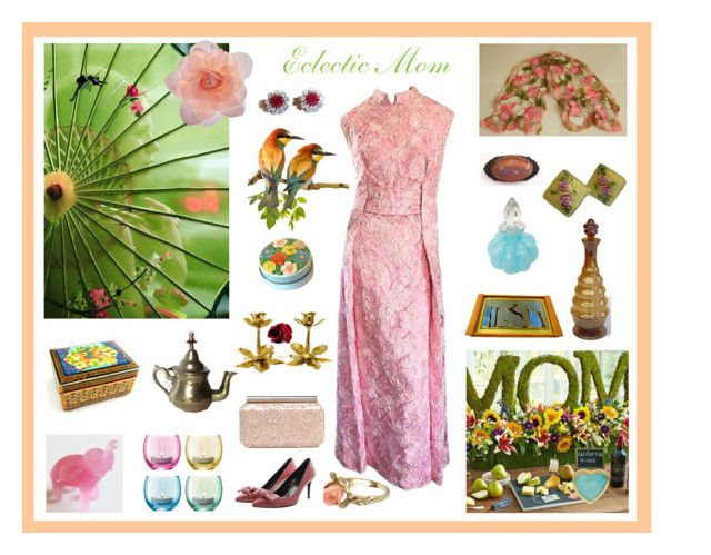 """""""Eclectic Mom"""" by anna-ragland ❤ liked on Polyvore featuring Vintage, Gucci, Accessorize, AMBRE, Tiffany & Co., LSA International, Oscar de la Renta, contemporary and vintage"""