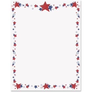 4th of july word border