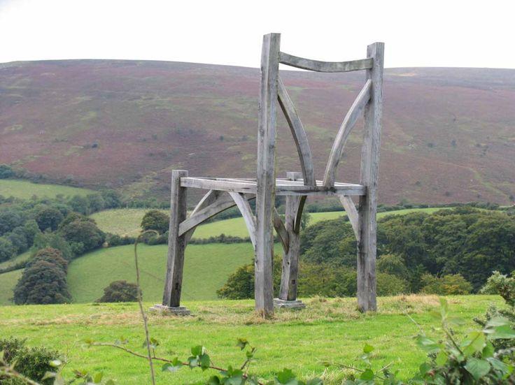 Giant Chair in Dartmoor, Enland