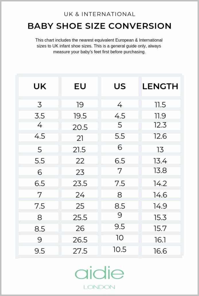 infant size 12 in eu