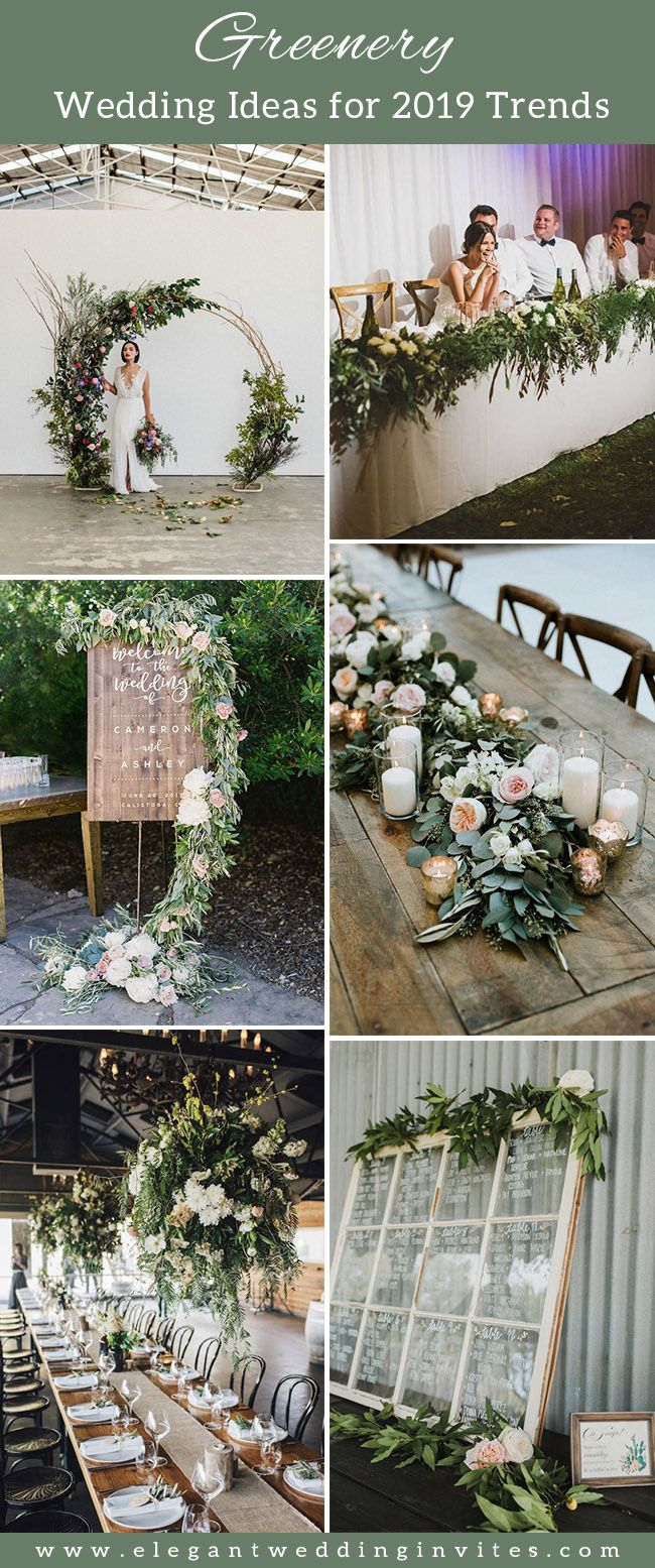 Wedding decorations at the beach january 2019  Trending Floral Greenery Wedding Ideas for   Wedding Day