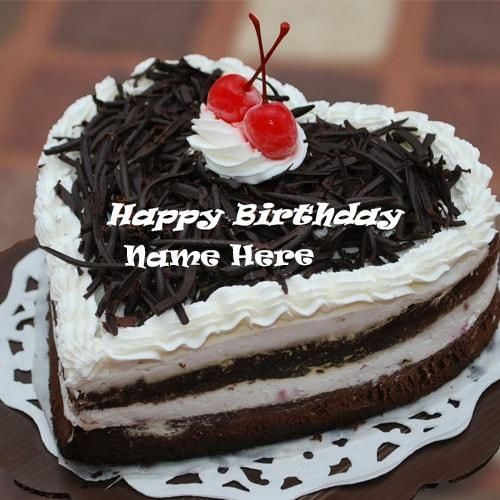 Chocolate Cake Pic With Name : heart shaped chocolate birthday cake pictures with name ...