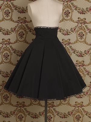 Mary Magdalene's Lace Up High Waist Skirt (2012) in Black, wow, simple but so elegant! Needs an ivory blouse :)
