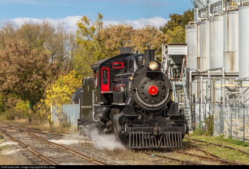 WCR 9 is running around her train at Elmira and will soon be heading back to Waterloo. (via RailPictures.Net Photo: WCR 9 Waterloo Central Railway Steam 0-6-0 at Elmira, Ontario, Canada by Don Janes)