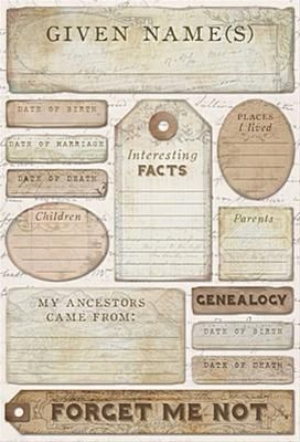 Ancestry - Journaling Stickers by Karen Foster