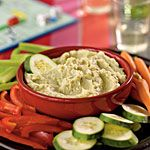 """Lima Bean Dip """"Salsa di Fagioli"""" - This will be much more affordable than hummus made with tahini."""
