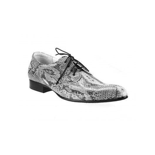 Pánske kožené extravagantné topánky sivé - fashionday.eu