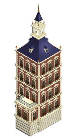 Reconstrucción virtual de la Torre Dorada del Alcázar de Madrid en el siglo XVI