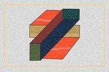 Абстрактный геометрический рисунок - цвет+форма