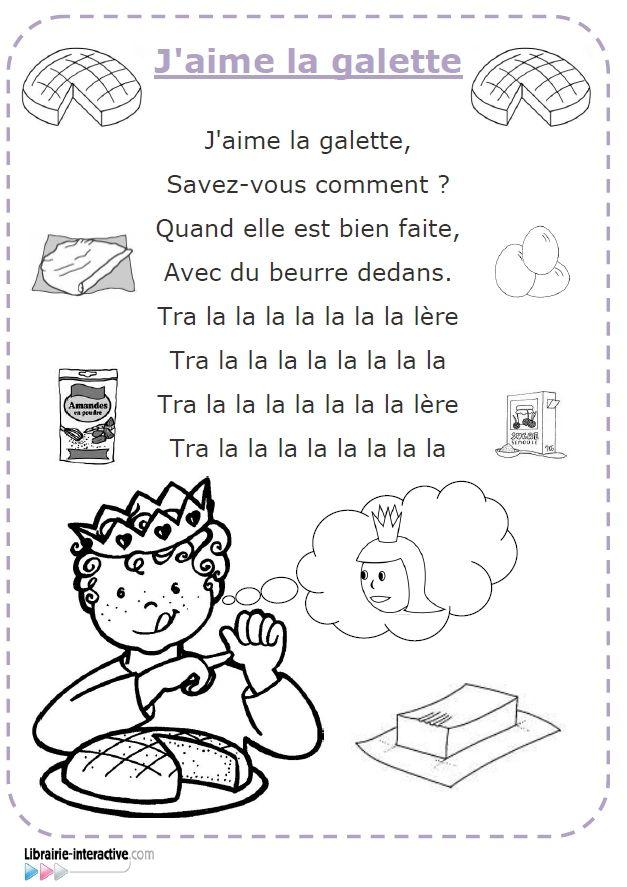 Les paroles illustr es de la chanson j 39 aime la galette - Image roule galette imprimer ...