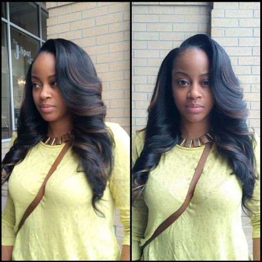 Perfect Side Part Sew In
