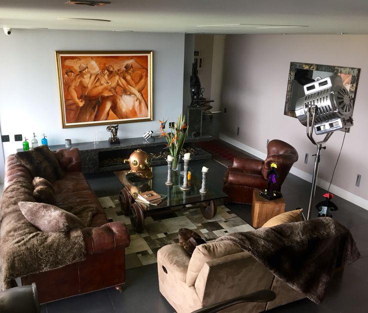 Restoration hardware style living room
