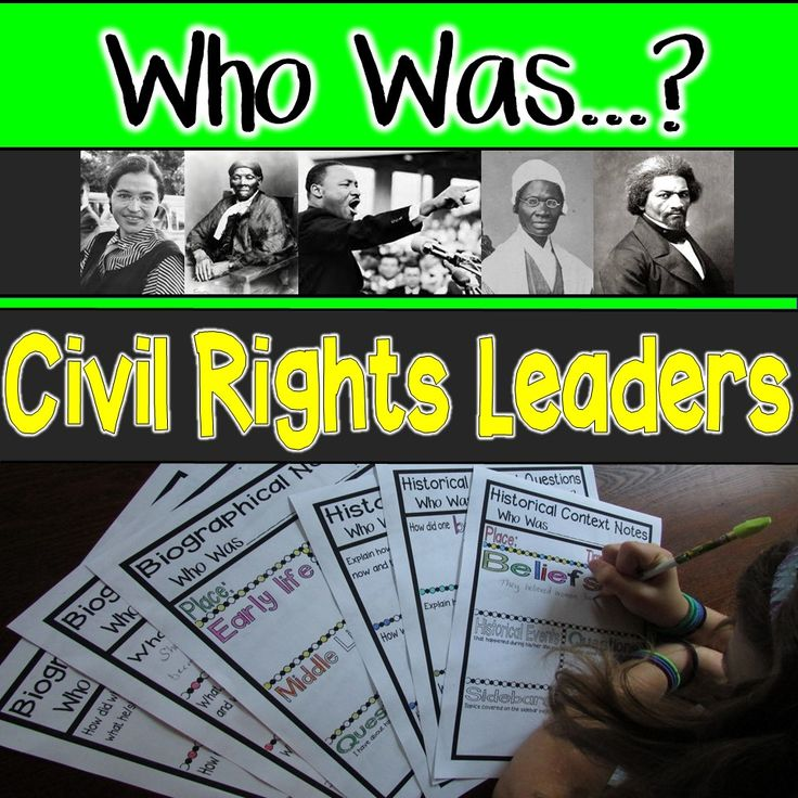 Activities for the civil rights themed Who Was...? books: Rosa Parks, Sojourner Truth, Martin Luther King, Jr, Harriet Tubman, and Frederick Douglass. Teacher instructions, discussion activities, quotes, reader response questions, and Venn diagrams.
