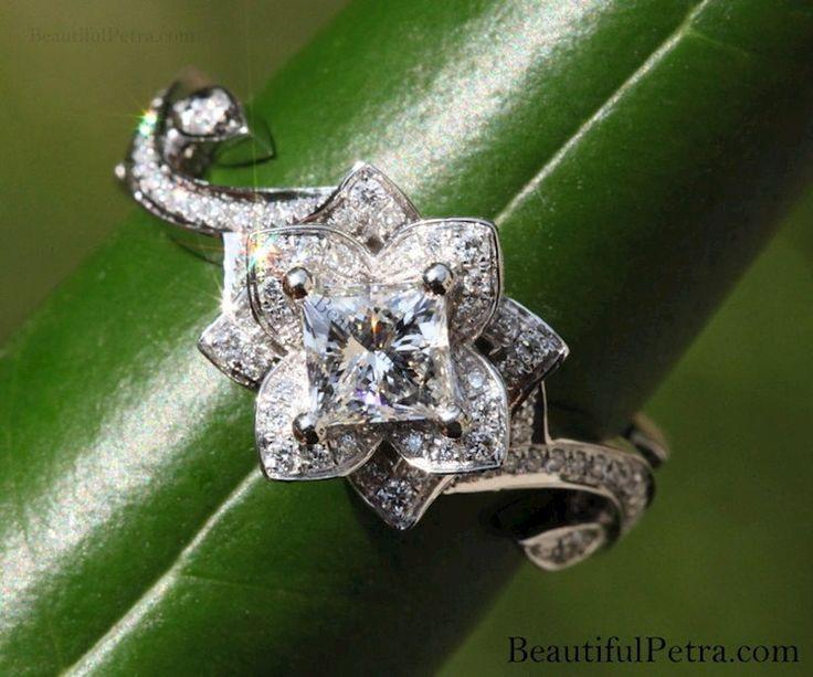 Half Eternity Wedding Band Diamond Engagement Ring Set 3 Carat Princess Cut F SI1 Women Bridal Rings In 14 Karat Yellow Gold6