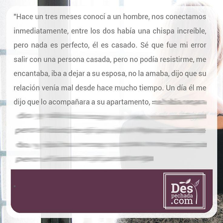 Si quieres saber cómo termina esta historia, ingresa a www.despechada.com  #agritoherido y de paso grita con nosotras.