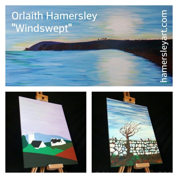 """#ArtExhibition  """"Windswept""""  By Orlaith Hamersley  On exhibition at the Index #Gallery  Waterford City #Library  Unit January 9th #2016 #Art #Waterford #Ireland"""