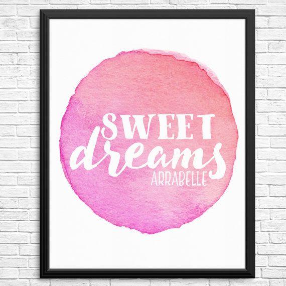 Custom Sweet Dreams Watercolour Digital Print
