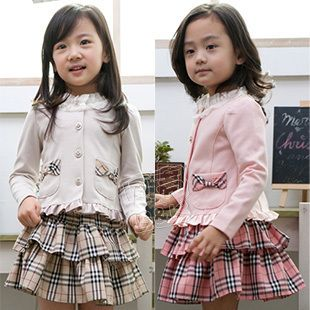 2013 New Fashion Spring Autumn Winter Baby Clothing Sets Outercoat Skirt Dresses for Girl Kids Clothes Children's Wear Apparel $15.29
