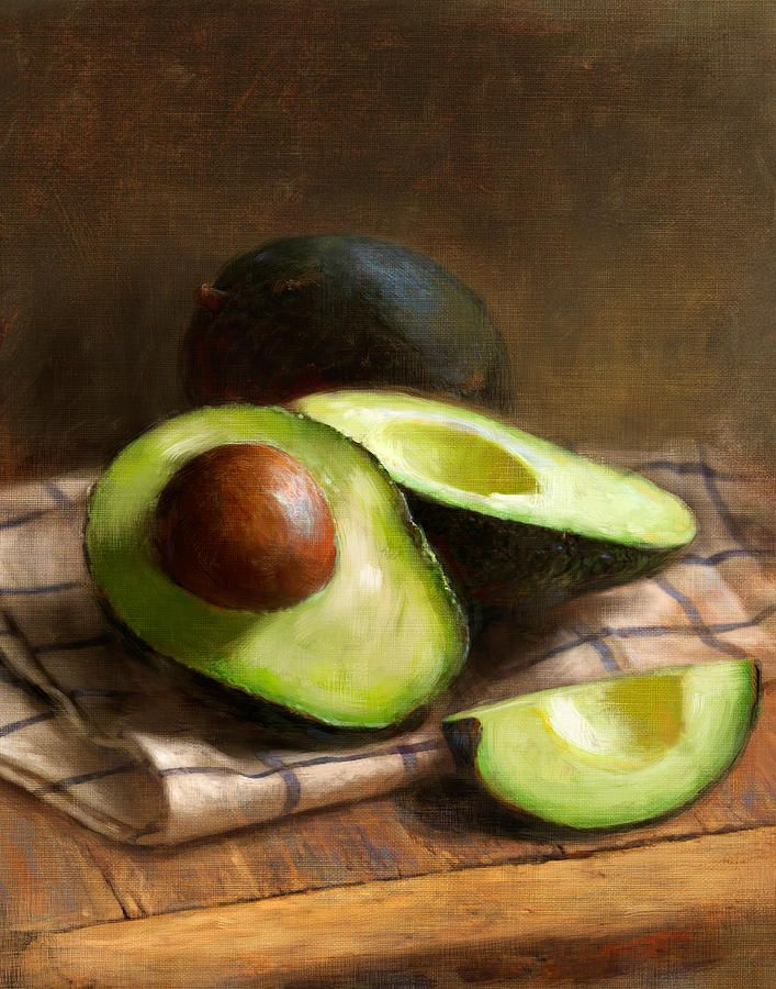 Avocados Painting - by Robert Papp