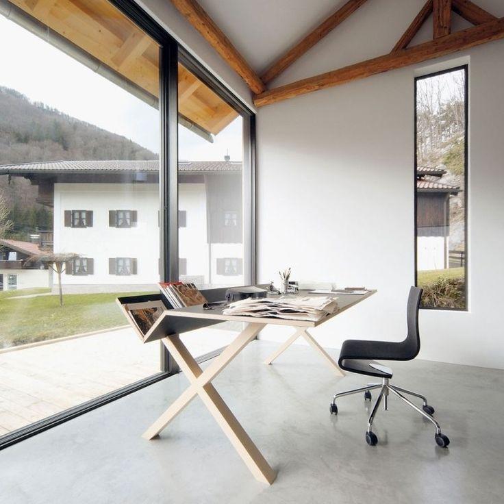 fabriquer un bureau en bois de design original