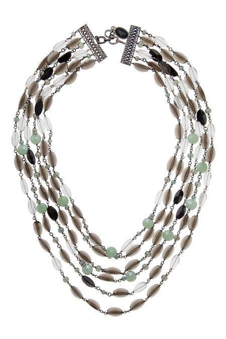 APPARTEMENT A LOUER - Ожерелье из бижутерного сплава, выполненное с отделкой бусинами горного хрусталя и бижутерным стеклом в Интернет-магазине NAME'S