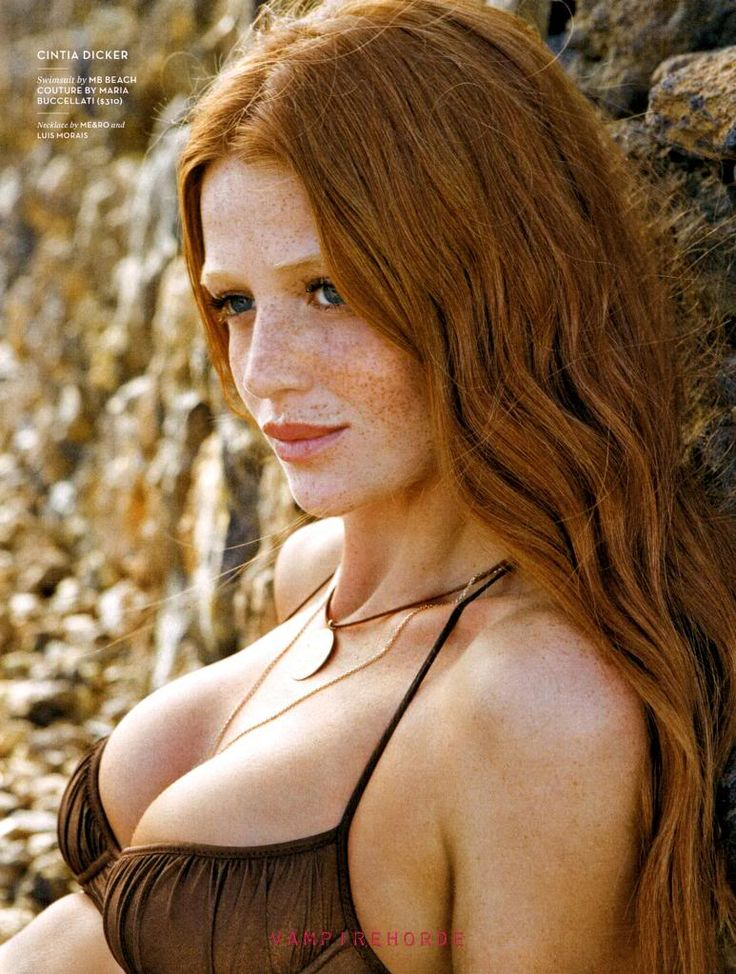 freckles Big tit redhead with