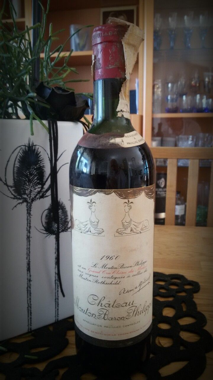 Wine of the day: Chateau Mouton Baron Philippe, 1960.🍷