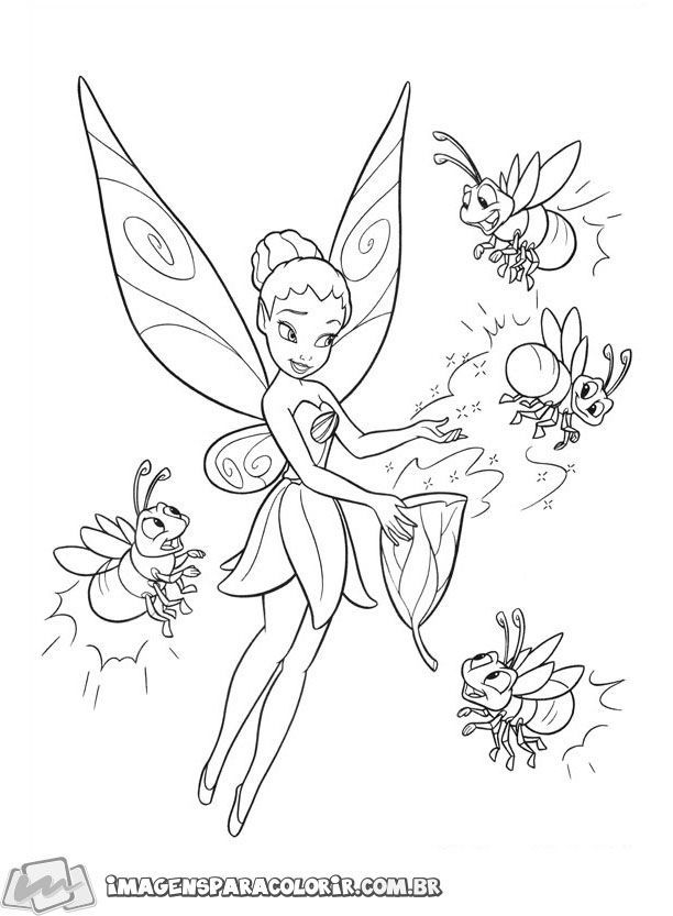 Tinker Bell Imagens Para Colorir Tinkerbell Coloring Pages