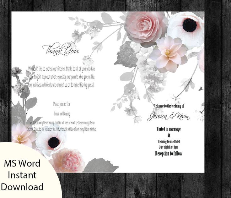 The 25+ best Wedding program template word ideas on Pinterest - baby shower program template