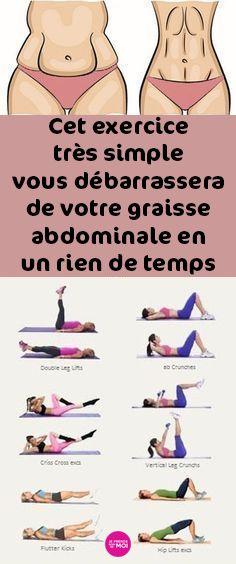 Cet exercice très simple vous débarrassera de votre graisse abdominale en un rien de temps