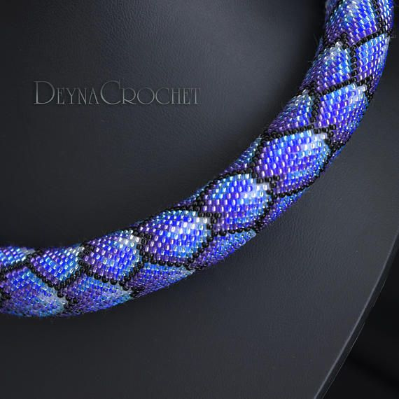 Beadwork Necklace Seed Bead Necklace Beadwork Jewerly Beaded Necklace,Handmade Necklace Crochet Rope