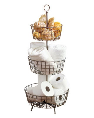 This is a great idea! The Pottery Barn one is almost $70, but I looked on Amazon and there are similar baskets for as little as $16!