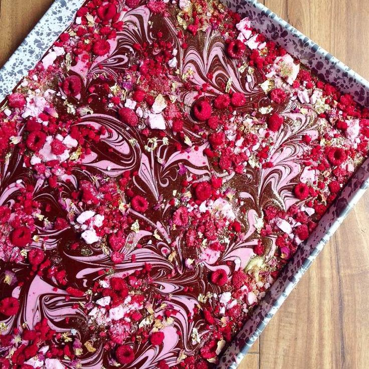 Raspberry Swirl Chocolate Bark Gold by Katherine Sabbath