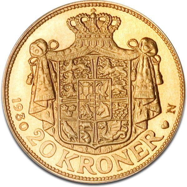 20 Kroner, Danish Krone, Christian X., Gold, Gold, Denmark, 8.06g, € 260.45