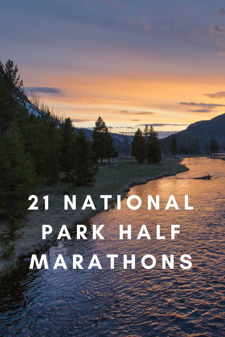 From Yellowstone National Park to the Florida Everglades, and from the Canyon Country of Utah to Maine's Acadia National Park, half marathons you'll love running. #marathon