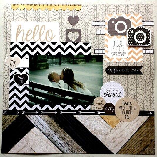 Hello Today collection: Hello layout by Amanda Baldwin